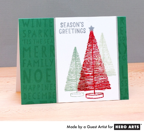 Project: Bottle Brush Tree Holiday Card