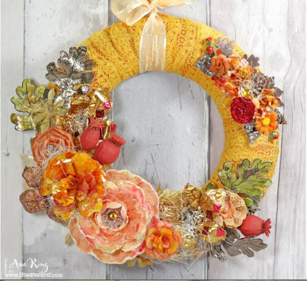 Project: Fall Wreath with Stamped Metal Leaves