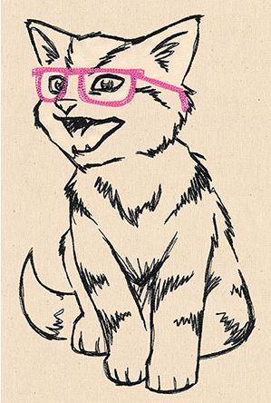 Freebie: Nerdy Cat Digi