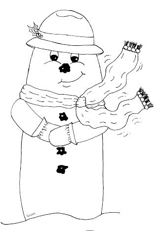 Freebie: Snowman Digital Stamp
