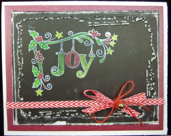 Project: Chalkboard Christmas Card