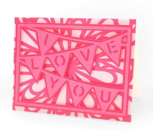 Freebie: I Love You Banner Die Cut