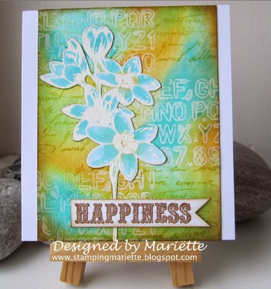 Technique: Card Background with Gesso and Stains