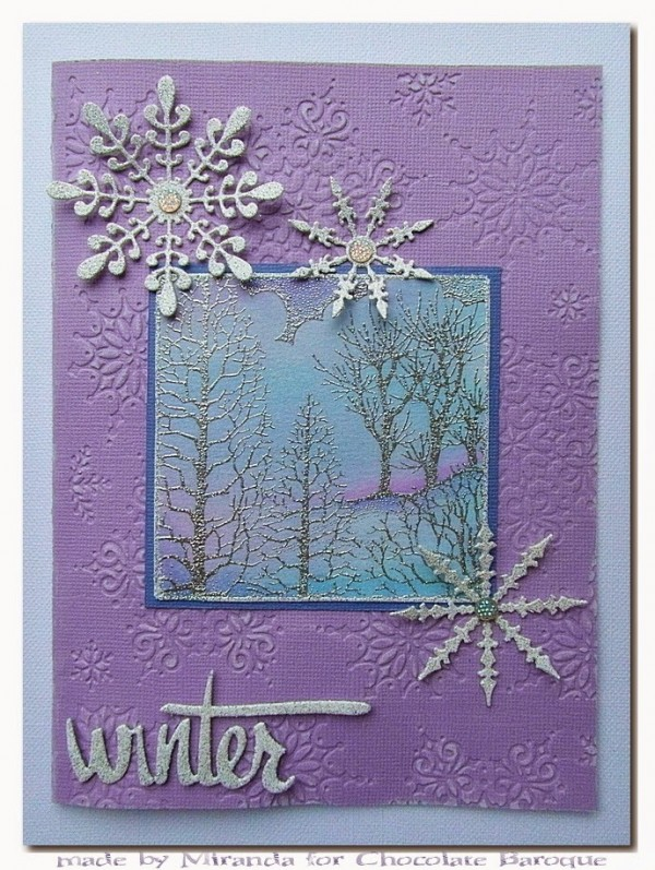 Project: Winter Tree Cards