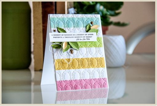 Project: Embossed Striped Card