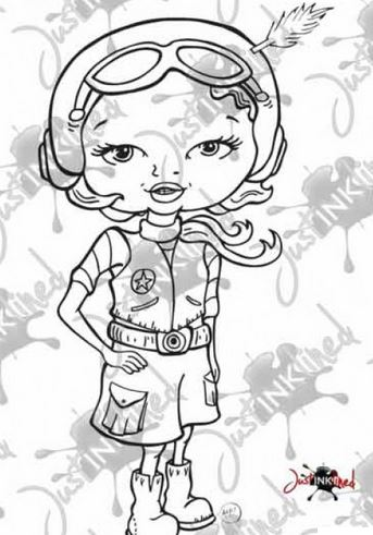 Freebie: Aviation Girl