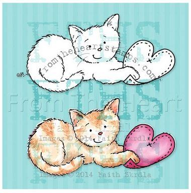 Freebie: Kitty Cat Digital Stamp