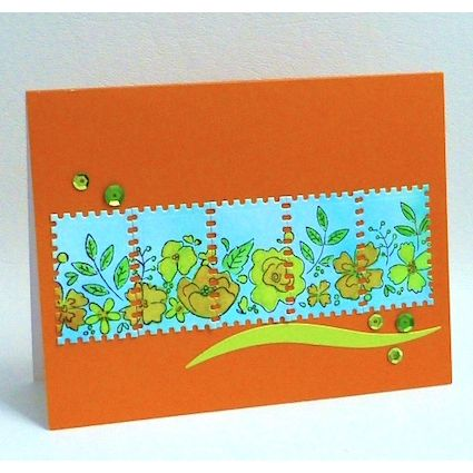 Project: Floral Faux Postage Card