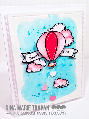 Project: Hot Air Balloon Thank You Card