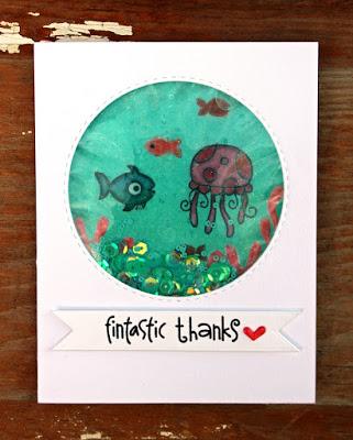 Project: Ocean Shaker Card