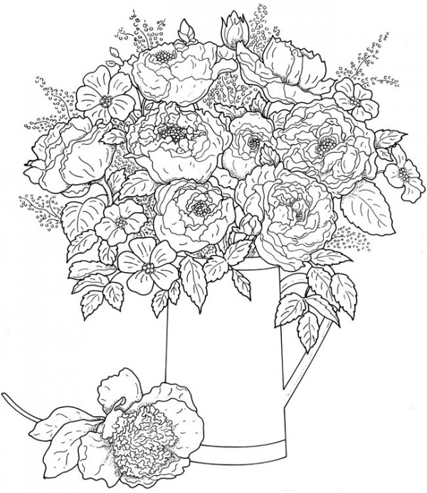 Freebie: Floral Coloring Page