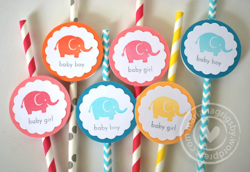 Project: Stamped Party Straws