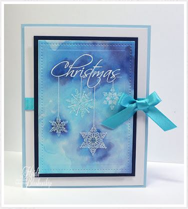 project: embossed snowflake card