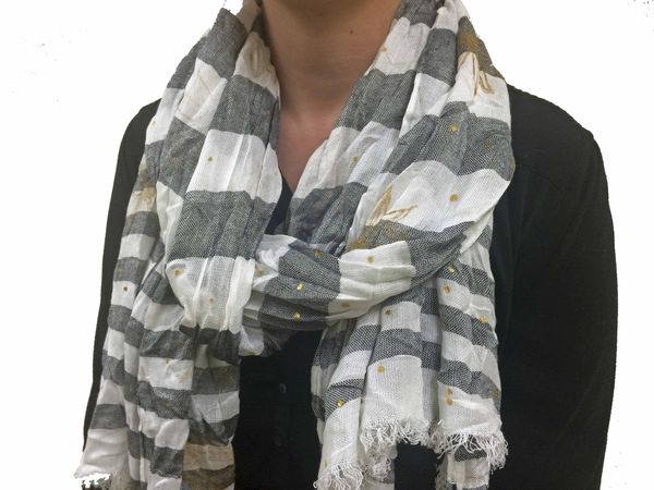 Project: Stamped Scarf