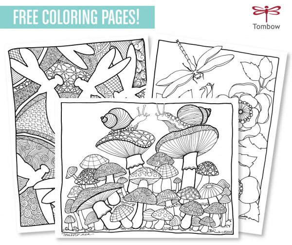 Freebie and Technique: Coloring Pages with Markers