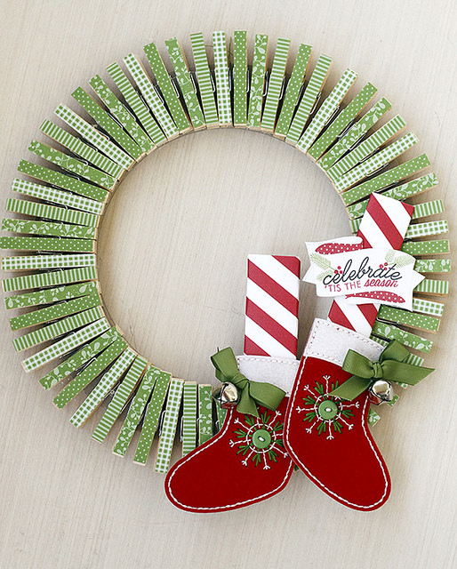 Project Clothes Pin Wreath Stamping
