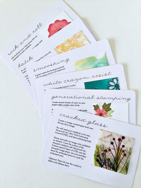 Freebie and Techniques: Stamping Technique Cards