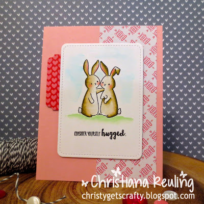 Project: Water Colored Bunnies Valentine Card