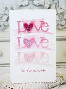 Project: Ombre' Valentine's Day Card