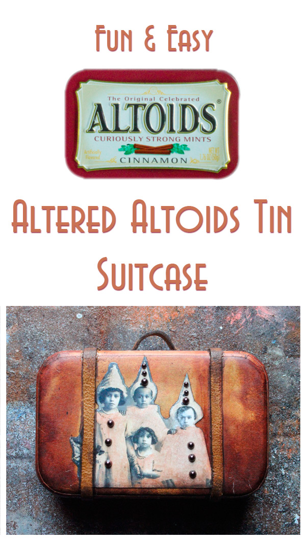 Project and Freebies: Altered Mini Altoid Tin Suitcase