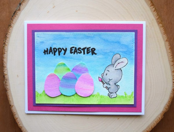 Project: Water Color Eggs Easter Card