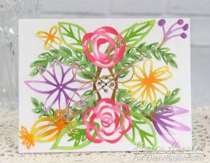Project: Floral Bouquet Window Card