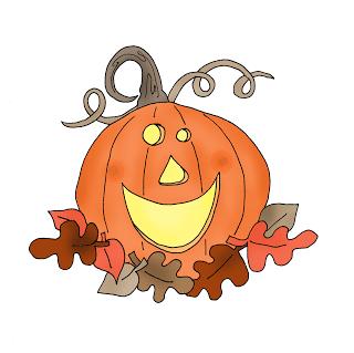 Freebie: Halloween Pumpkin Digi Stamp