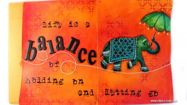 Project: Elephant Art Journal Page