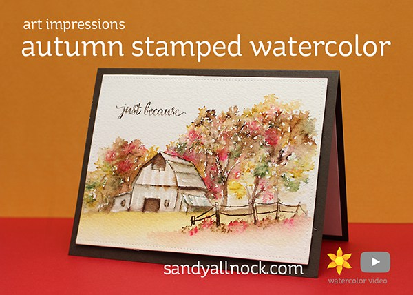 Tutorial: Autumn Scene Card with Water Color Marker Technique