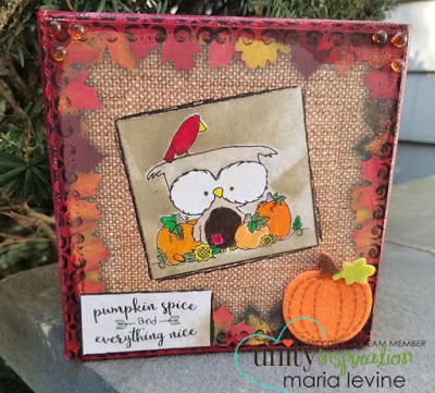 Project: Fall Owl Stamped Canvas