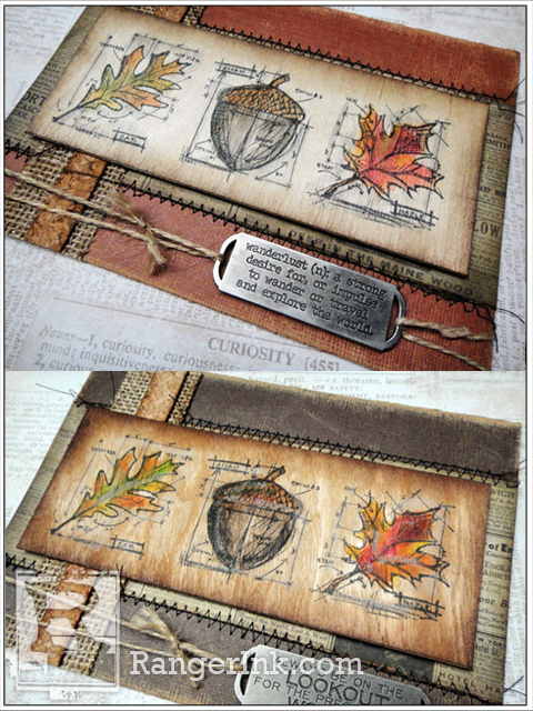 Project: Autumn Card with Wood Veneer