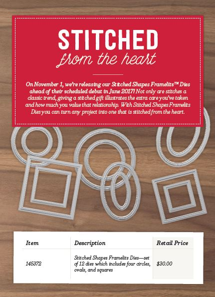 Review: Stampin Up Stitched Shapes Framelits Dies