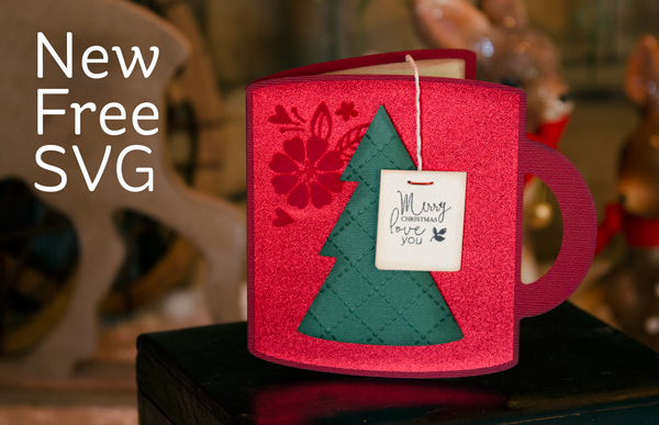Freebie: Holiday Mug Shaped Card