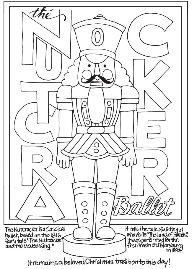 freebie nutcracker coloring page stamping