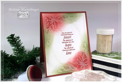 Project: Emboss Resist Christmas Card