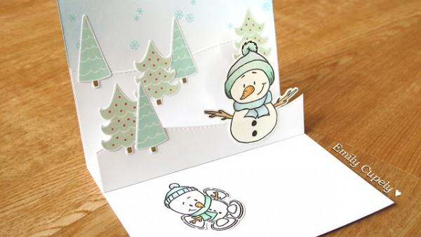 Project: Snowman Pop Up Card