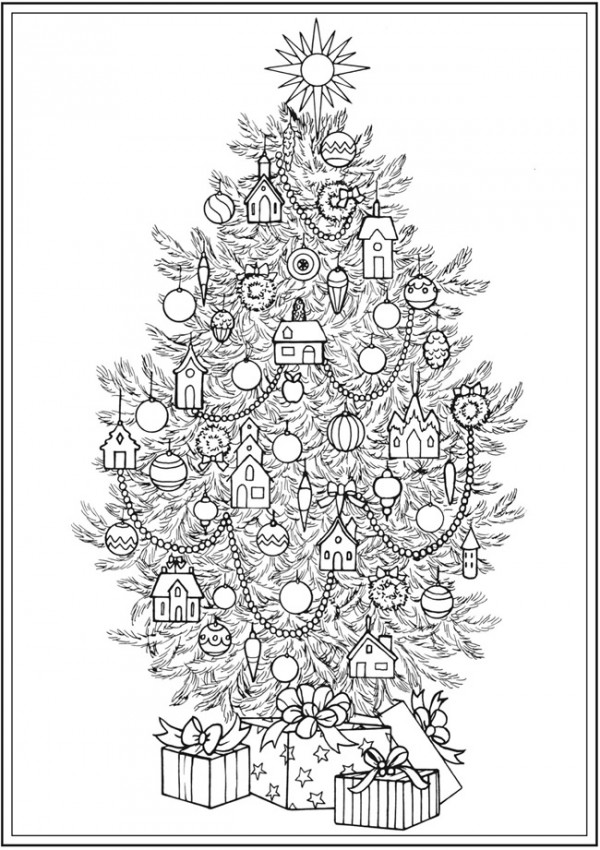 Freebie: Christmas Tree Coloring Page