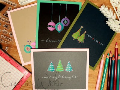 Project: Bright and Bold Christmas Cards