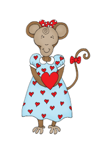 Freebie: Valentine Monkey Digital Stamp