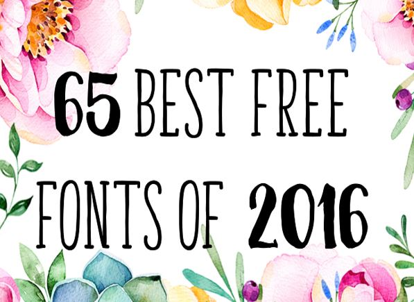 Freebies: Best 65 Free Fonts of 2016