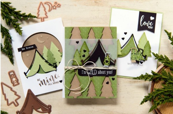 Inspirations: Camping Valentine's Card