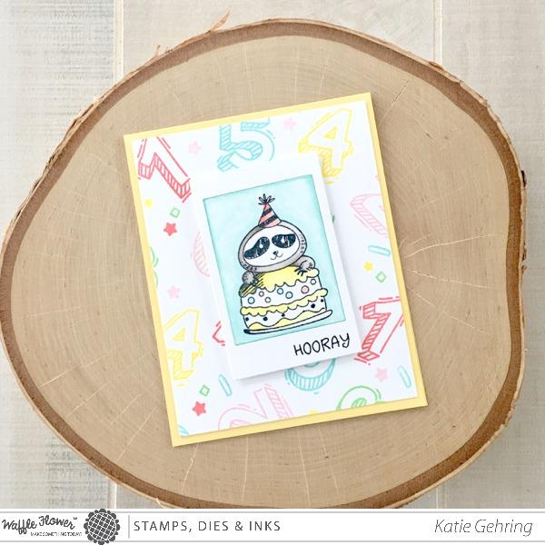 project sloth birthday card  stamping, Birthday card