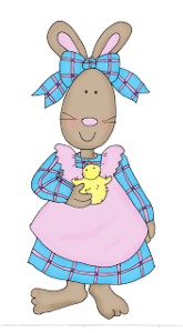 Download: Spring Bunny Digital Stamp