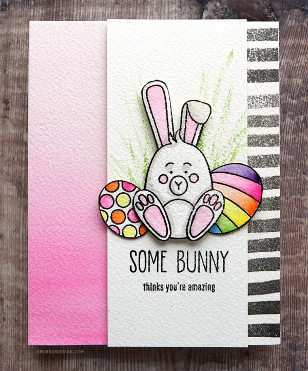 Project: Easter Card with Dry Brushed Water Color Technique