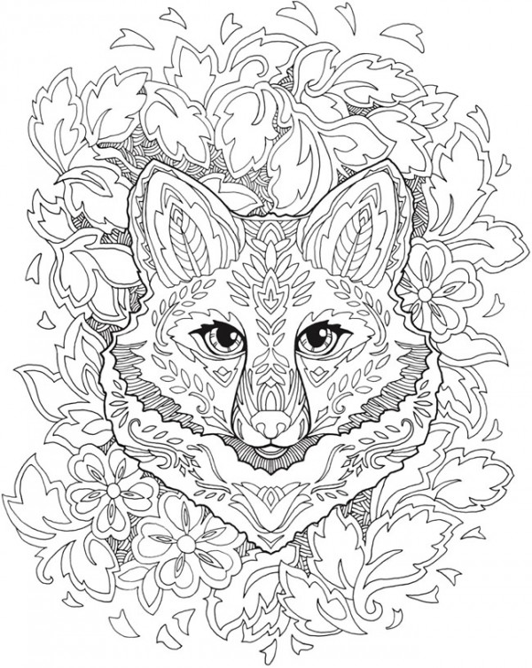 Download: Fanciful Fox Mandala Coloring Page – Stamping