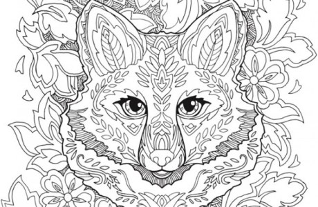 Download: Fanciful Fox Mandala Coloring Page