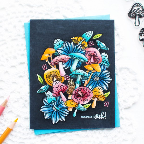 Project: Bold Floral and Fungus Card