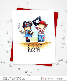 Project: Boy and Girl Pirate Card