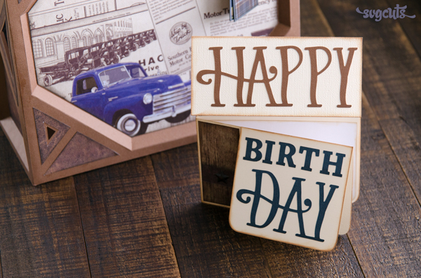 Download: Birthday Die Cut Flap Card