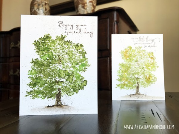 Tip: Stamping Realistic Trees